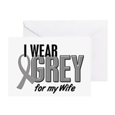 I Wear Grey For My Wife 10 Greeting Card