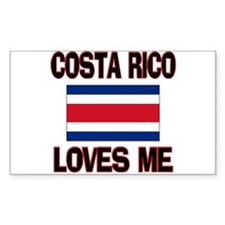 Costa Rico Loves Me Rectangle Decal