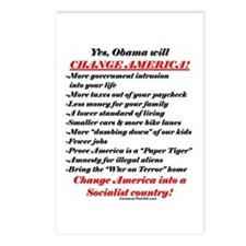 """""""Obama Will Change America"""" Postcards (Package of"""