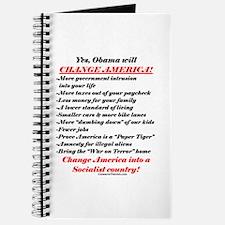 """Obama Will Change America"" Journal"
