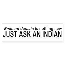 Native Eminent Domain Bumper Bumper Sticker