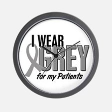 I Wear Grey For My Patients 10 Wall Clock