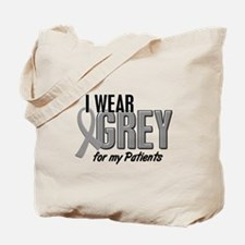 I Wear Grey For My Patients 10 Tote Bag