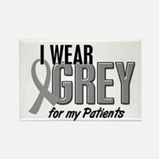 I Wear Grey For My Patients 10 Rectangle Magnet