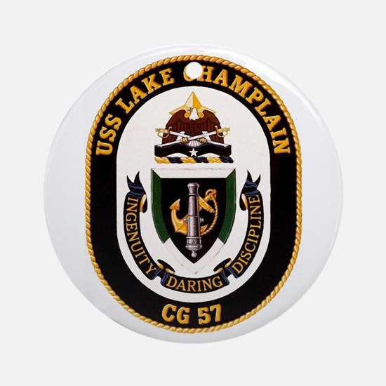 USS Lake Champlain Ornament (Round)