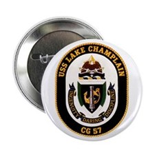 "USS Lake Champlain 2.25"" Button"