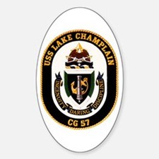 USS Lake Champlain Oval Decal