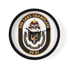 USS Lake Champlain Wall Clock