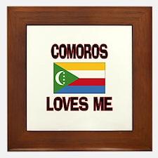 Comoros Loves Me Framed Tile