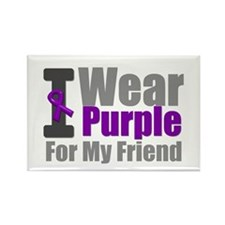 I Wear Purple (Friend) Rectangle Magnet
