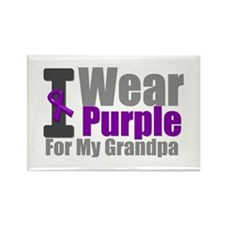 I Wear Purple (GP) Rectangle Magnet