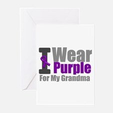 I Wear Purple (Grandma) Greeting Cards (Pk of 10)