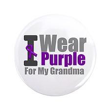 "I Wear Purple (Grandma) 3.5"" Button"