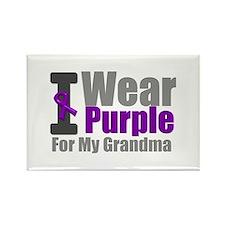 I Wear Purple (Grandma) Rectangle Magnet