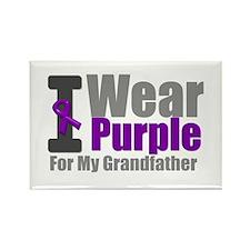 I Wear Purple (GF) Rectangle Magnet
