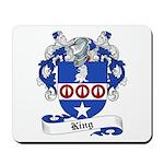 King Family Crest Mousepad