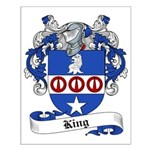 King Family Crest Small Poster