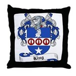 King Family Crest Throw Pillow