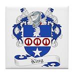 King Family Crest Tile Coaster