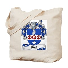 King Family Crest Tote Bag