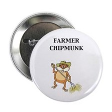 "Farmer Chipmunk 2.25"" Button (10 pack)"