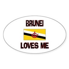 Brunei Loves Me Oval Decal
