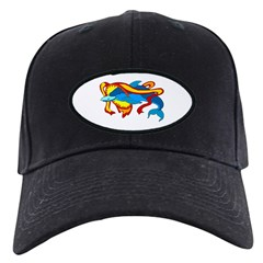 Stylized Dolphin Baseball Hat