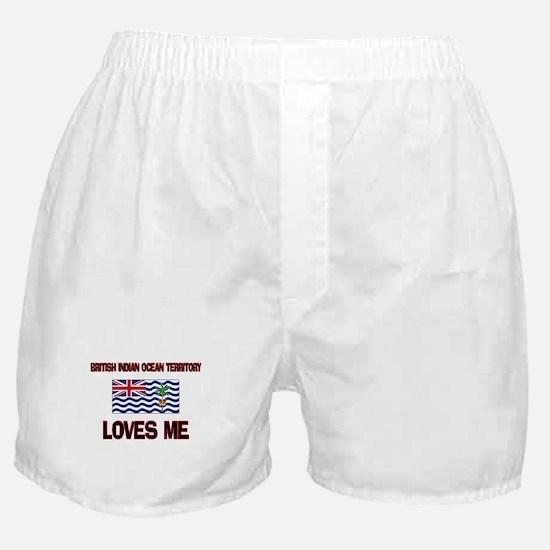 British Indian Ocean Territory Loves Me Boxer Shor