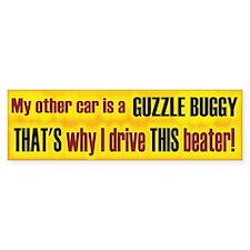No Guzzle Buggy Bumper Bumper Sticker