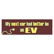 Next Car EV Bumper Bumper Sticker
