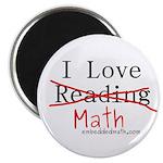 "I love Math - 2.25"" Magnet (100 pack)"