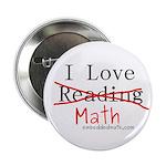 """I Love Math - 2.25"""" Button (10 pack)"""