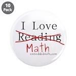 """I Love Math - 3.5"""" Button (10 pack)"""