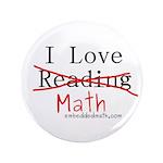 """I Love Math - 3.5"""" Button (100 pack)"""