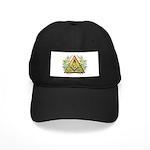 Masonic Acacia & Pyramid Black Cap