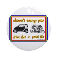 """Obama's Energy Plan"" Ornament (Round)"