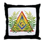 Masonic Acacia & Pyramid Throw Pillow