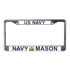 Masonic US Navy License Plate Frame