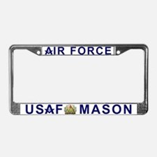 Masonic US Air Force License Plate Frame