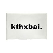 Kthxbai Lolcats Rectangle Magnet