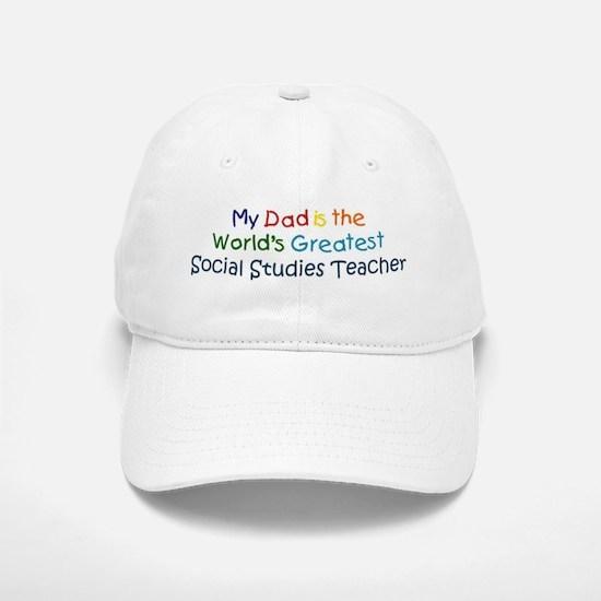 Greatest Social Studies Teach Baseball Baseball Cap