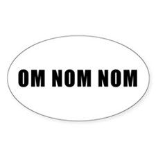 Om Nom Nom Lolcats Oval Decal