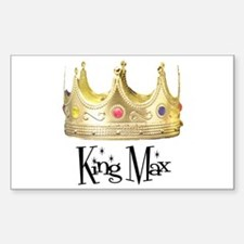 King Max Rectangle Decal