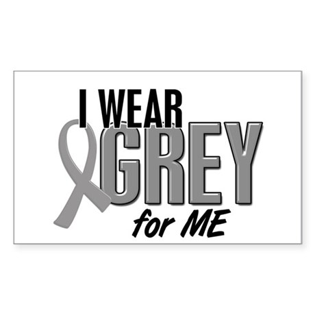 I Wear Grey For ME 10 Rectangle Sticker