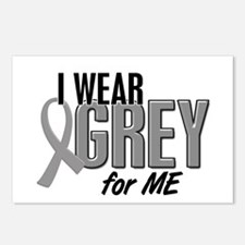 I Wear Grey For ME 10 Postcards (Package of 8)
