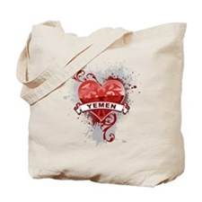 Heart Yemen Tote Bag