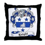 Knight Family Crest Throw Pillow