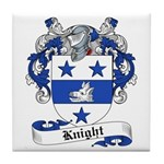 Knight Family Crest Tile Coaster
