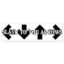 Slave To The arrows DDR ITG Bumper Bumper Sticker