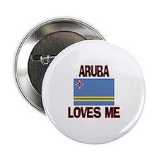 """Aruba Loves Me 2.25"""" Button"""
